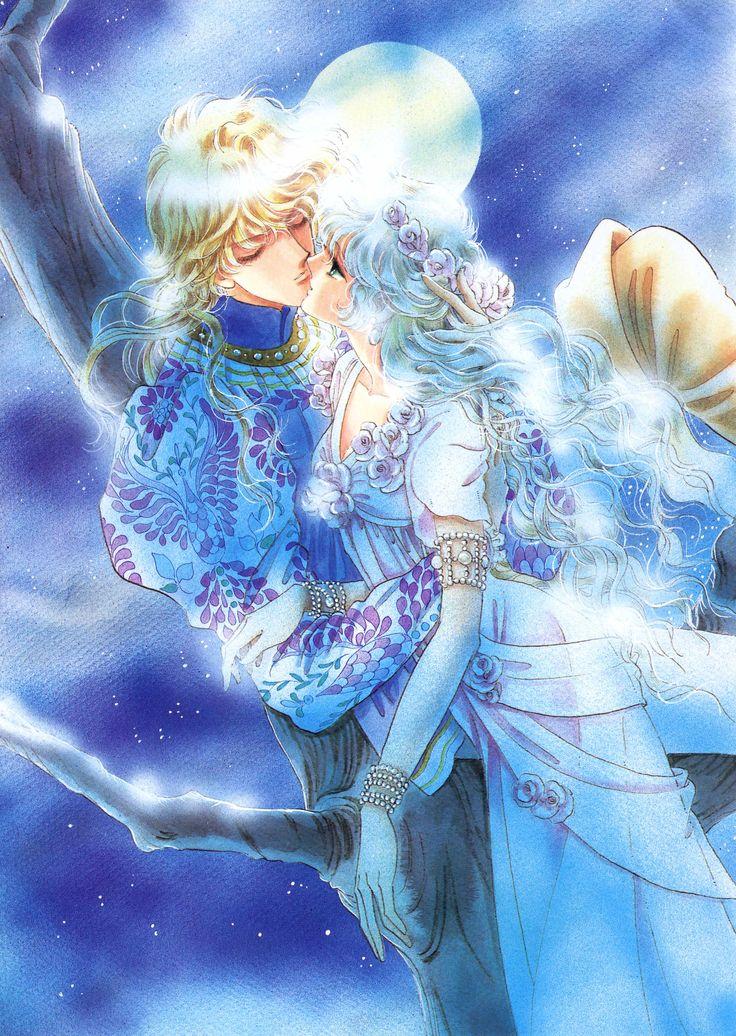 "Art from ""Madonna Of The Flower Crown"" series by manga artist & ""Revolutionary Girl Utena"" creator Chiho Saito."