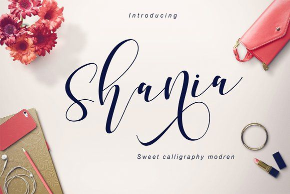Shania sweet calligraphy by Teweka on @creativemarket