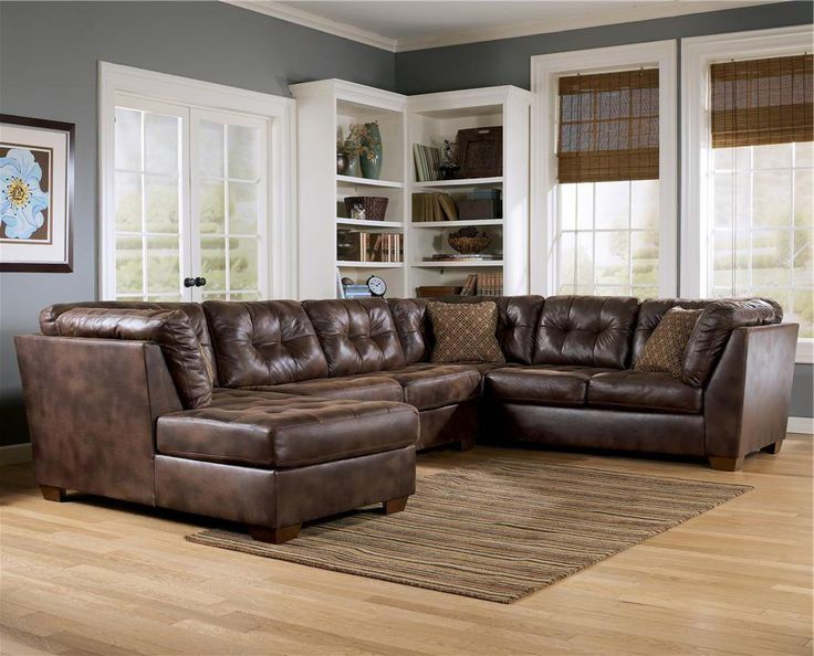 Frontier   Canyon Sectional With Chaise By Signature Design By Ashley  Furniture