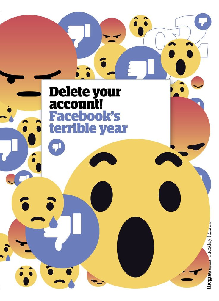 Guardian g2 cover: Facebook's terrible year #editorialdesign #newspaperdesign #graphicdesign #design #theguardian