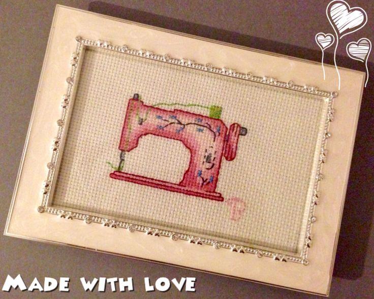 Sewing machine cross stitch