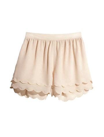 I always wanted a pair of pantaloons-these scalloped shorts are close enough and I can wear them in public!