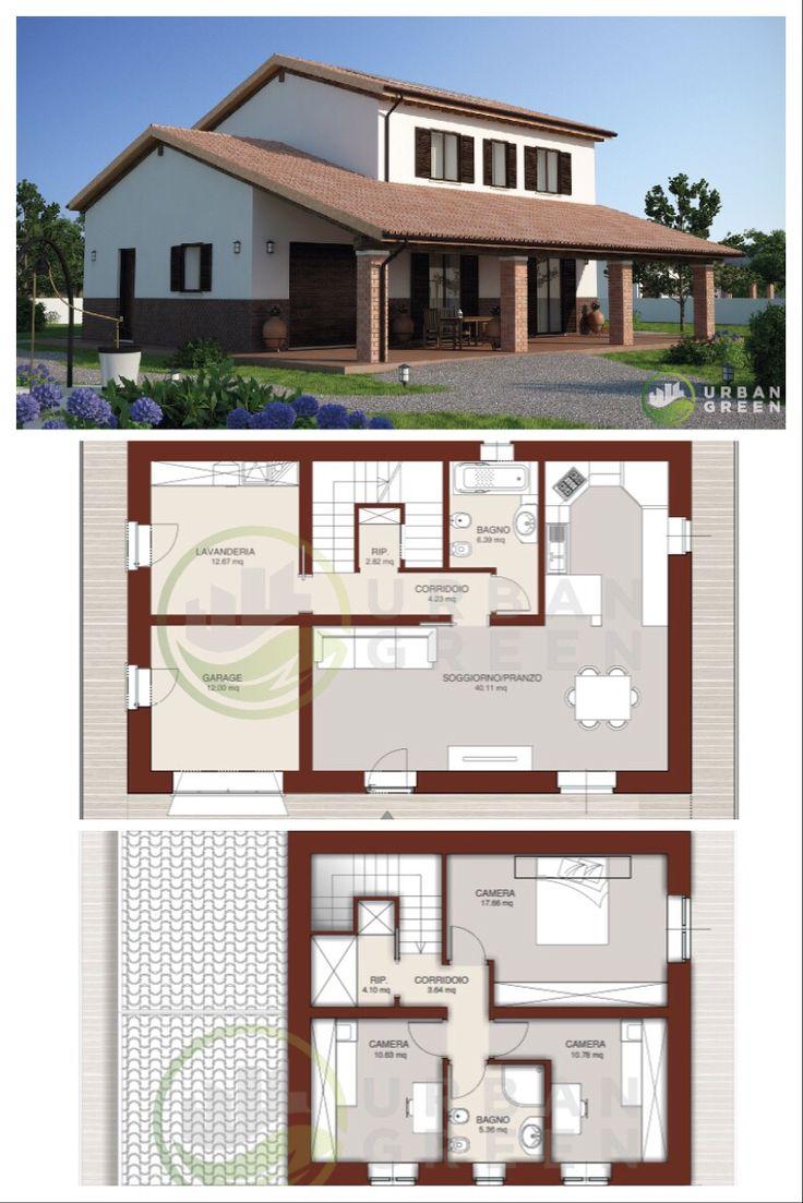 Progetto casa in legno bifamiliare urban green per info e for Progetto casa design