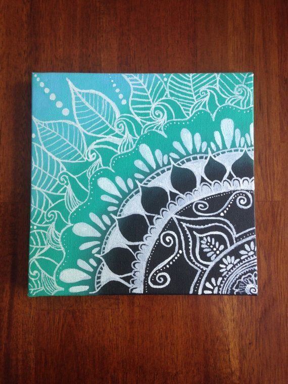 This 8x8 inch henna canvas with an ombre feel will lighten up any room. It will stand out as a great piece of art.