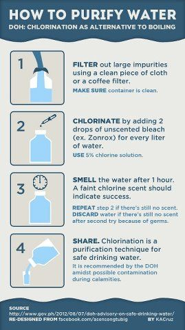 How to purify water! #emergency