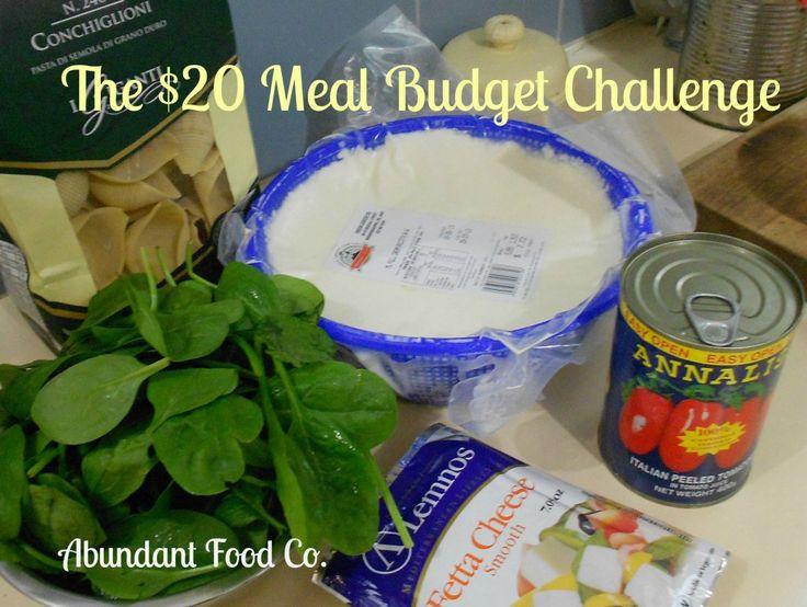 20 dollar meal budget challenge