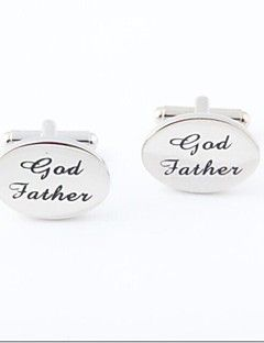 "Groom/Groomsman ""God Father"" Brass Cufflinks"