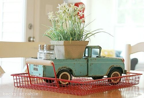 John would love this......Decorating with Vintage Toy Trucks — A Cultivated Nest