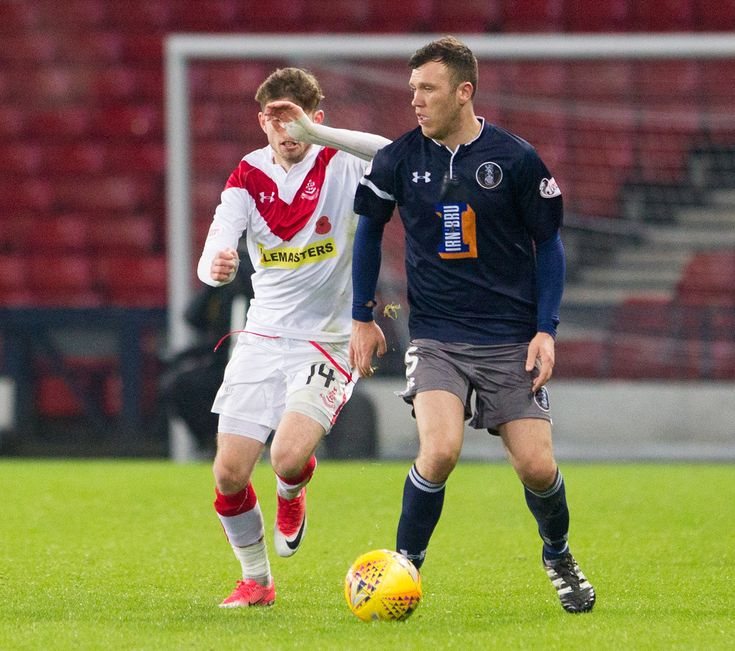 Queen's Park's Adam Cummins in action during the SPFL League One game between Queen's Park and Airdrieonians.
