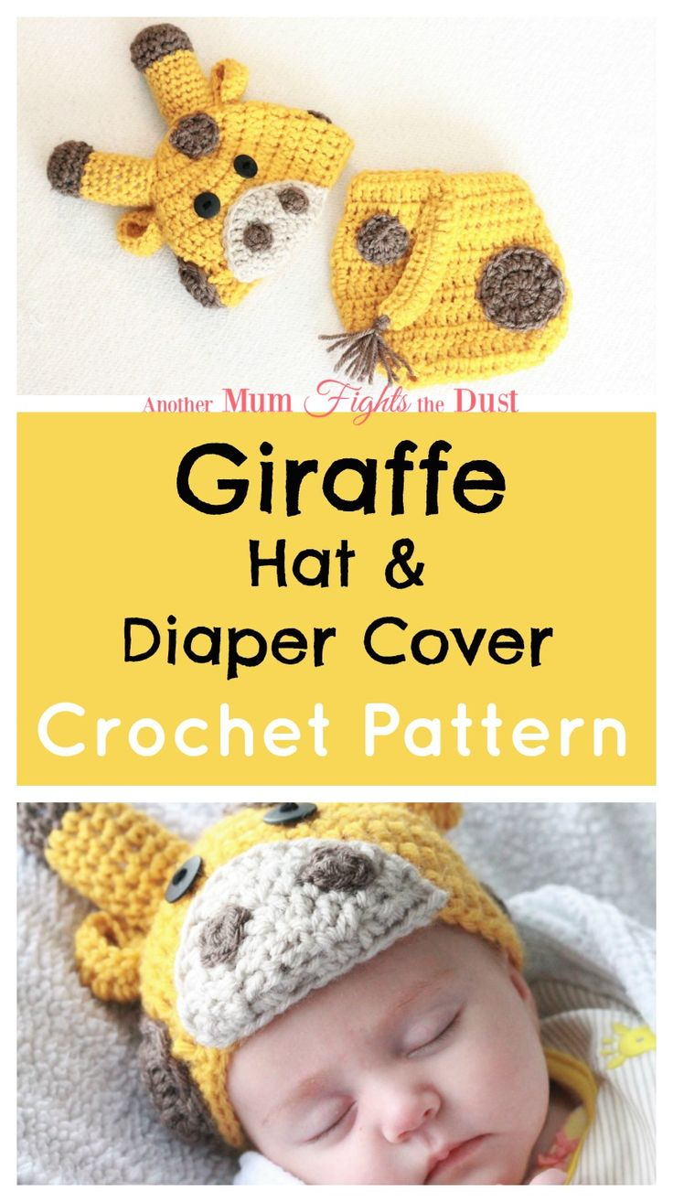 This adorable crochet giraffe hat and diaper cover would make the perfect baby shower gift for that new mom in your life.