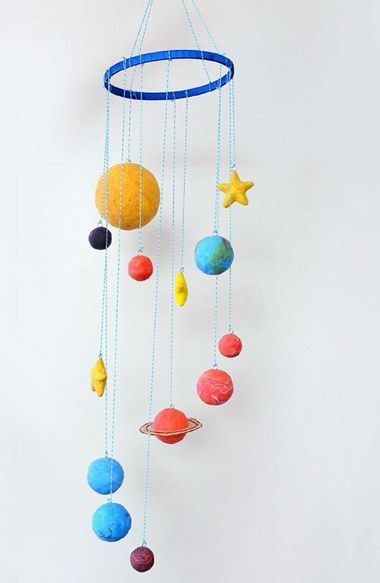 handmade solar system mobile - photo #14
