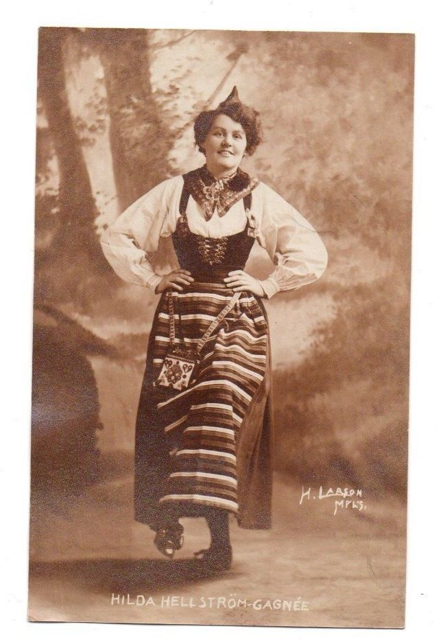 RPPC Postcard Hilda Hellstrom Passenger on & Survivor of Titanic Sinking in 1912 | eBay