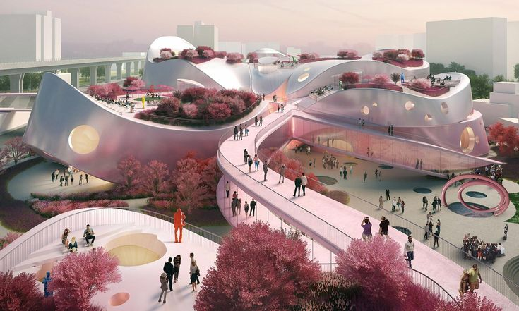 MVRDV postaví naTchaj-wanu růžové Taoyuan Museum of Art