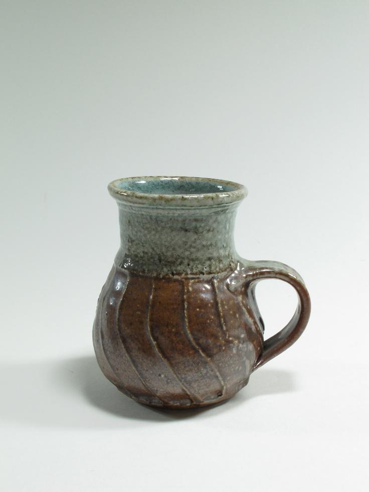 Warren Tippett, salt glazed mug from a 12 piece coffee set, c.1977, Auckland New Zealand. Collection of Auckland Museum, K3175