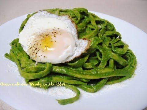 Tallarines Verdes -- Cocinando Con Wendy