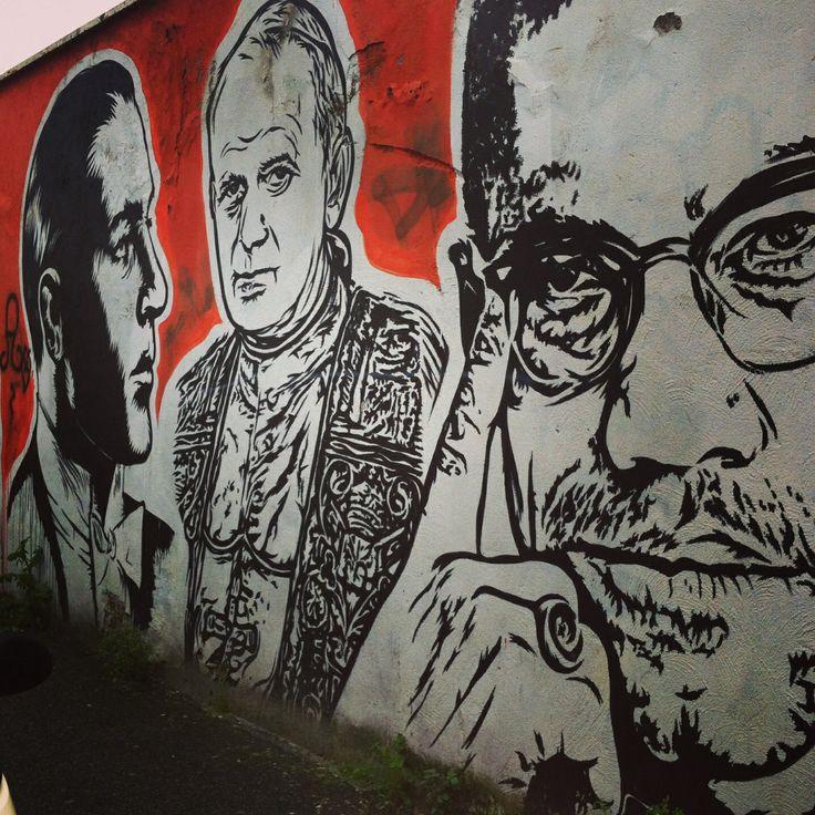 Street art graffiti Roma ostiense