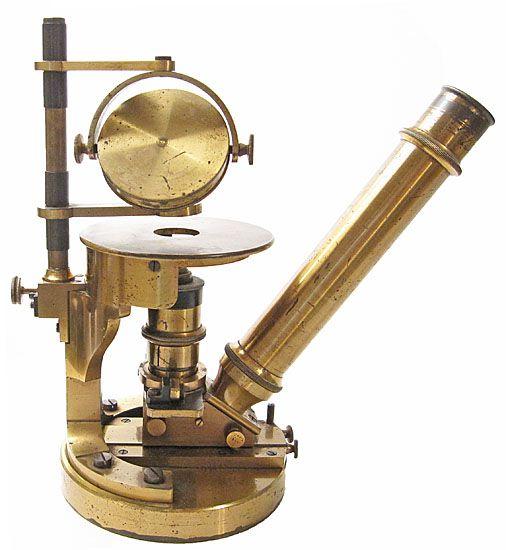 Nachet, 17 rue St. Severin, Paris The Nachet-Smith Inverted Chemical Microscope, c. 1885