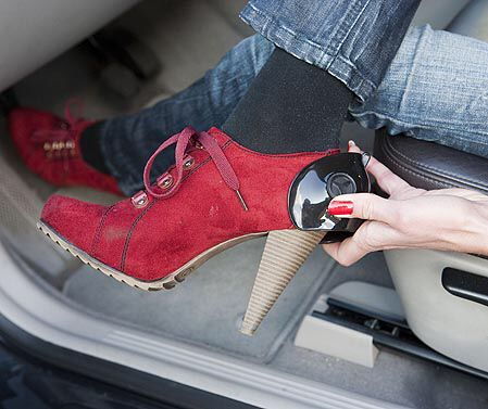 Protect your shoes with low and high heels while driving ...