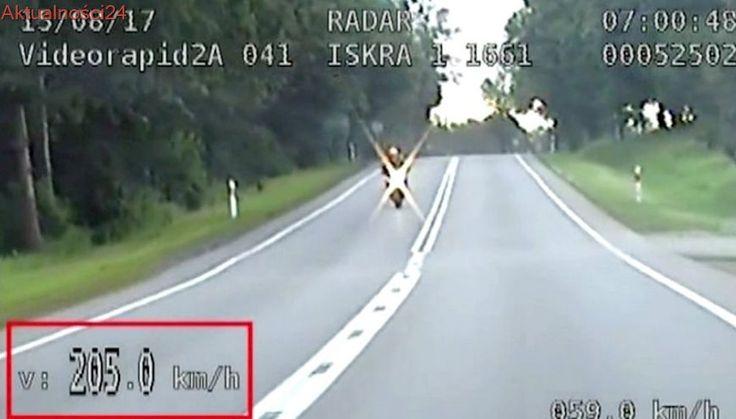 Był pijany, pędził motocyklem ponad 200 km/h