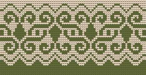 Green variation, Knitting patterns free, knitting charts and motifs - www.knitting-patterns-free.rucniprace.cz