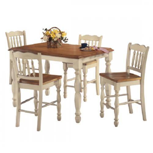 For Sale Ashley Furniture Cottage Retreat Cream Honey Counter Height Dinette Set UsedFurniture