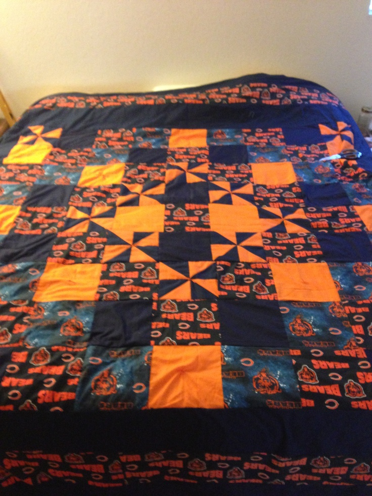 11 best Quilts images on Pinterest | Amish quilts, Baby baby and ... : chicago bears quilt - Adamdwight.com