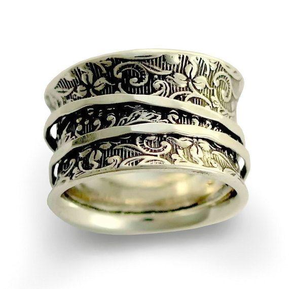 Silver Wedding Band Silver Band filatori anello di artisanlook
