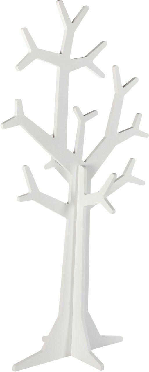 Kidsmill Kinder Garderobe Baum Weiß