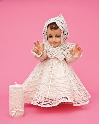 Ropón de Crochet para Niño Dios. Te invitamos a elaborar este lindo ropón para tu niño Dios.