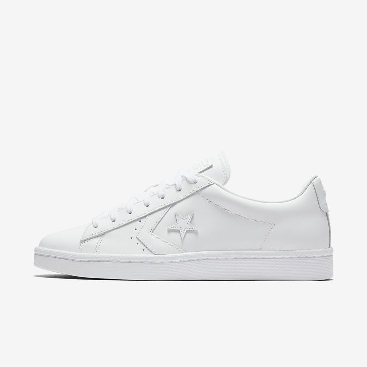 Converse - Pro Leather Low Top, in white, $70.00