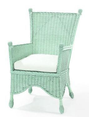 Cottage Wicker Furniture, Sonoma Wicker Porch Chair Maine Cottage Home