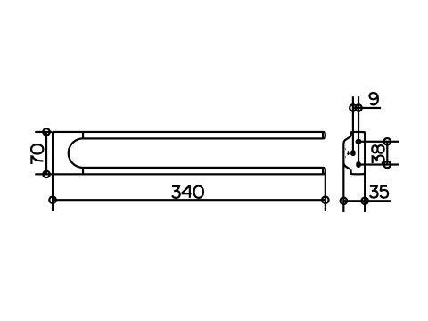KEUCO Accessoires COLLECTION MOLL Handtuchhalter 12719010000 - Hersteller von hochwertigen Armaturen Badarmaturen Accessoires Badaccessoires Badmöbel Waschtische und Spiegelschränke fürs Bad