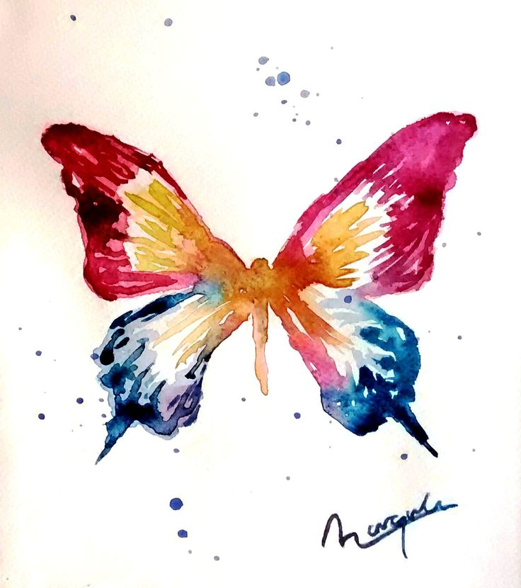 Mariposa en acuarela. Maraquela Maraquela watercolor.  Paper watercolor 18x24cm 300gr  https://www.etsy.com/shop/maraquela