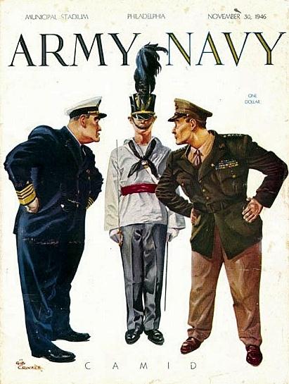 Army vs. Navy Game Program (1946) Army navy football