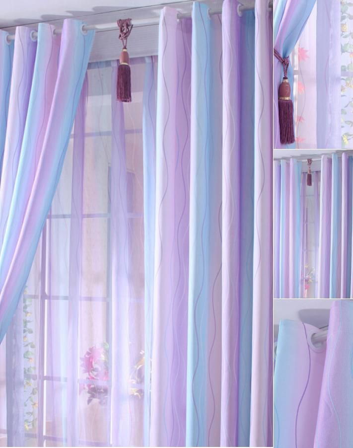 Discount Purple Baby Blue Lines Cool Curtains Cool Curtains
