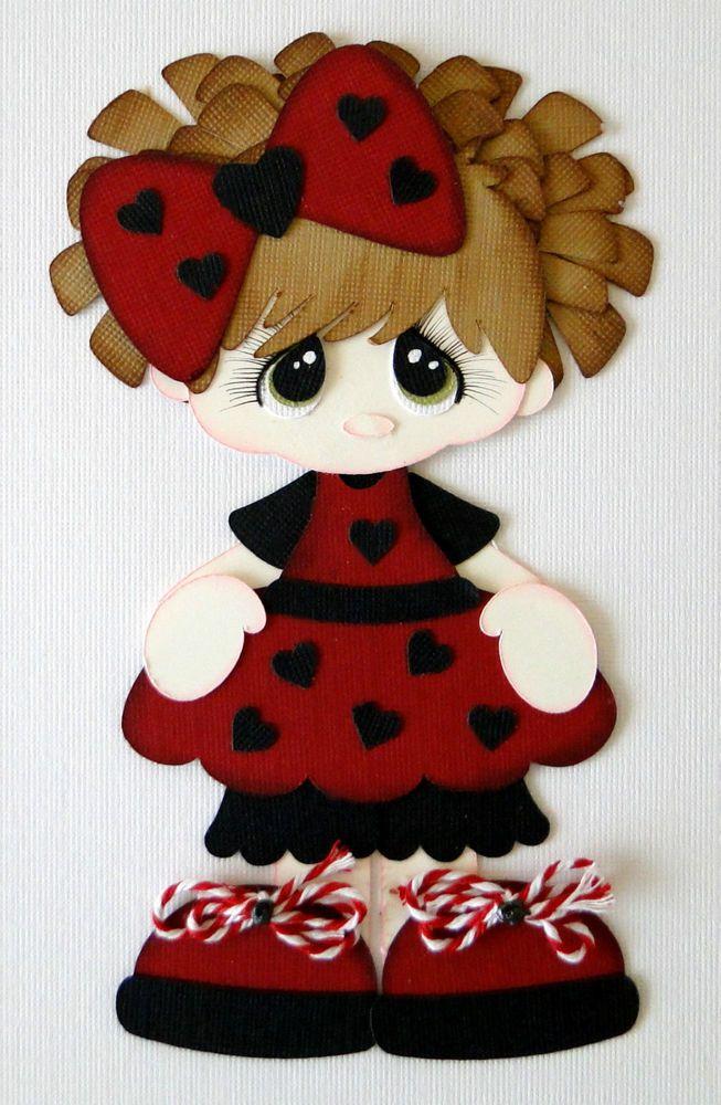 Little+Lady+Bug+Girl+Paper+Piecing+PreMade+4+Borders+Scrapbooks+Album