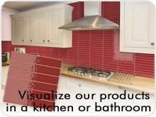 visualise splashbacks tile in a kitchen or bathroom
