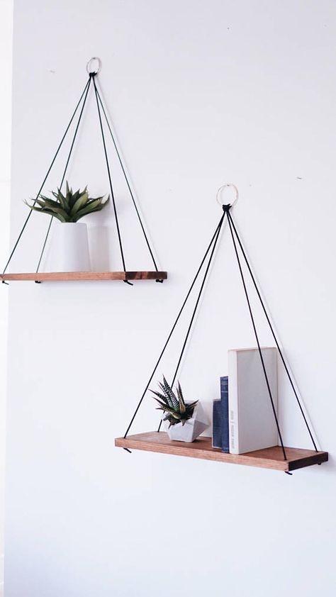 Hanging Shelves / Set of 2 Large Shelves / Floating Shelves /
