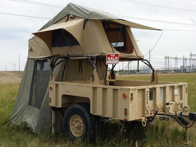 military trailer camping