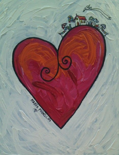 White heart for a wedding anniversary By Marie Prinsloo