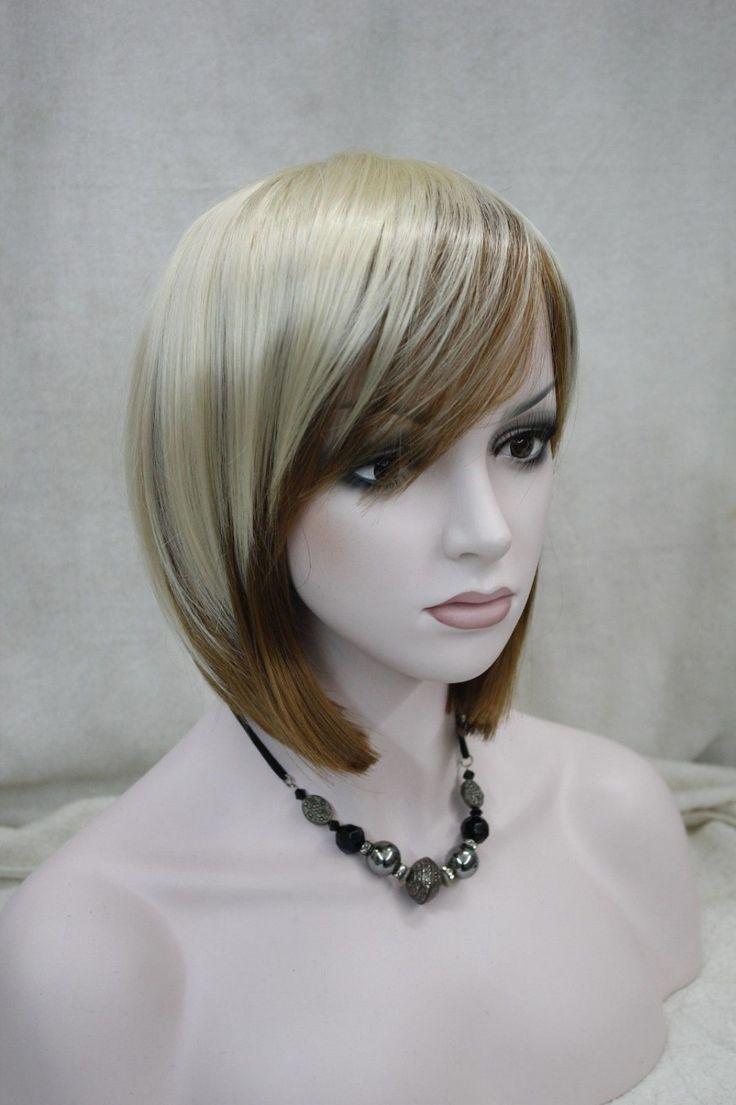 Кк 002928 мода бледная блондинка + клубника блондинка женские короткие прямые полный парик