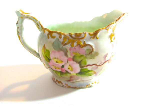 Limoges Elite Cream Pitcher Beautiful Porcelain with by Vinphemera,