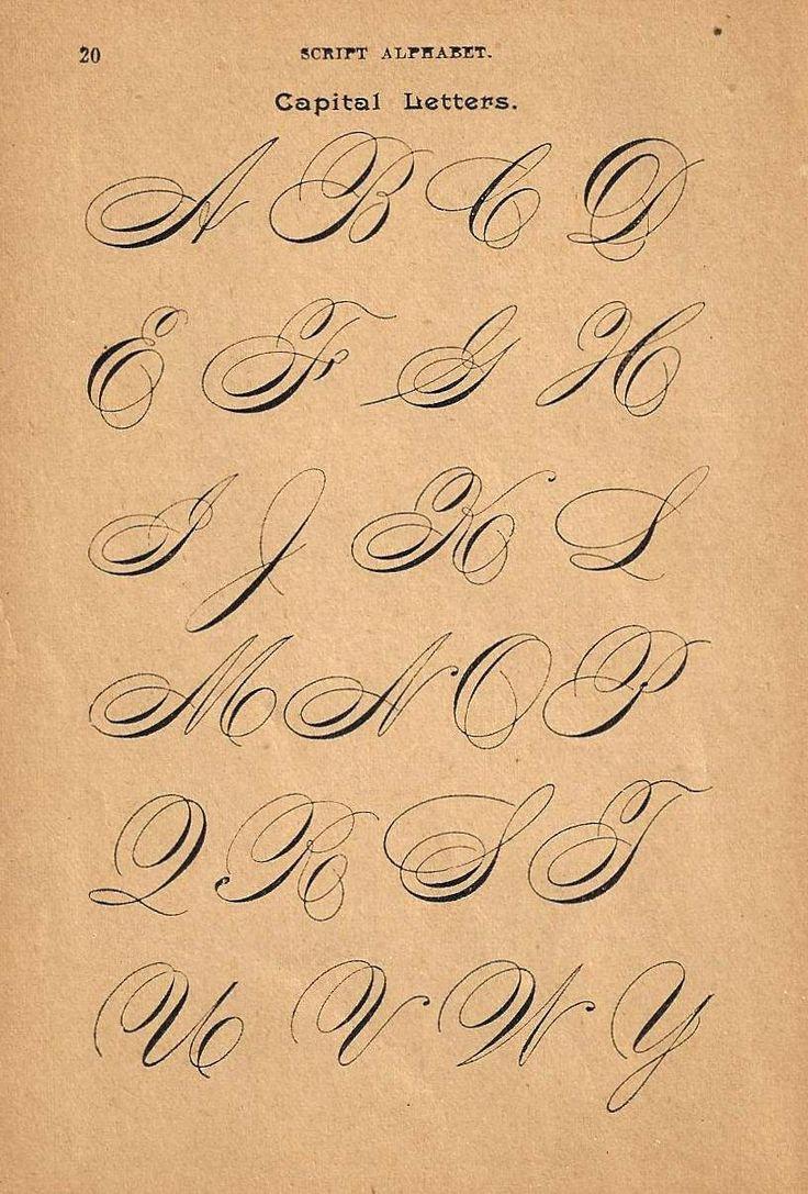 1890s flipside caligrafía Imprimir página por forloveofold en Etsy