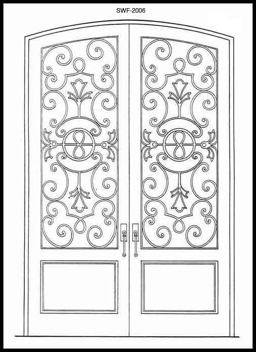 door design for drawing  | 633 x 531