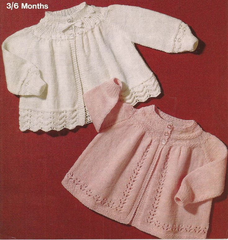 Knitted Baby Matinee Coat Jacket Cardigan Knitting Pattern PDF (SD52)