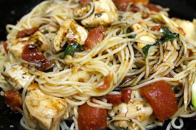 Bruschetta Chicken Pasta - TGI Friday's copycat version