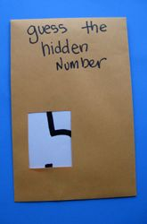 "Play 'Hidden Numbers' to help children recognise numbers - this game will get your child to associate shapes with numbers for easy identification. Cut a small hole in an envelope, put a number in it so that only part of it shows, & the child has to guess what the number is. Does it have a lot of lines? Maybe it's a 1 or a 7. Does it have circles or loops? It could be 3, 5, or 8. (Could also be adapted to support shape recognition) ("",)"