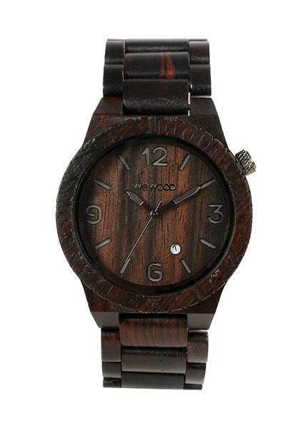 Beautiful eco friendly WeWood watch - the alpha black is made  from 100% wood and features miyota movement. $140 | WeWood New Zealand.