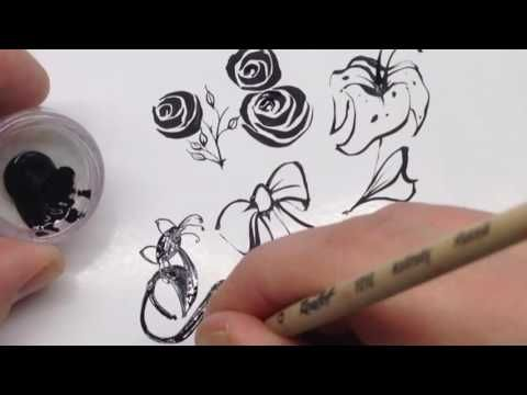 ADVANCED DESIGN COURSE: nail art painting techniques 2017 - YouTube