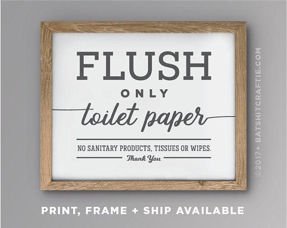 Printable Bathroom Sensitive Plumbing